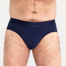 Load image into Gallery viewer, Mo Mens Brief Navy Light Moderate 5