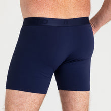 Load image into Gallery viewer, Mens Trunk - Navy Light-Moderate Absorbency - Modibodi