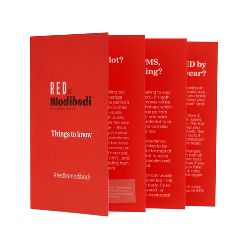 Modibodi RED Period Kit Period Fact Booklet