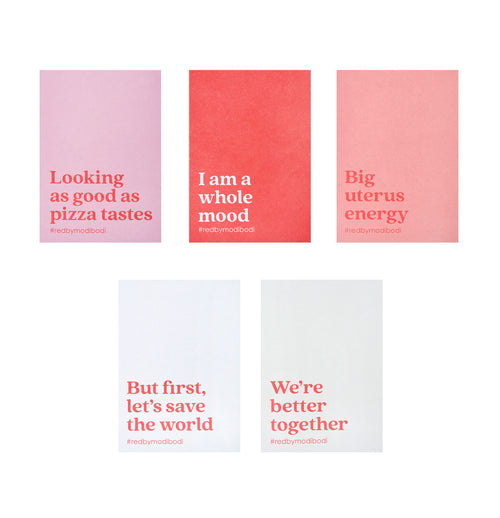 Modibodi RED Period Kit Affirmation Cards