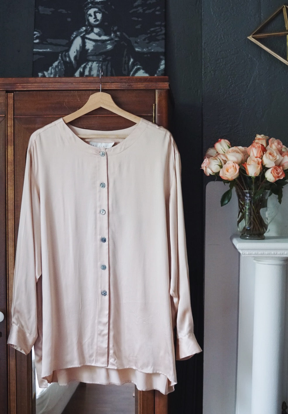 Blush Pink Pure Silk Limited Tunic