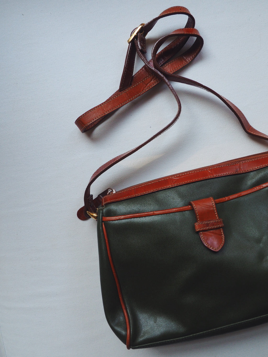 Dead Stock Genuine Leather Forest Green Purse