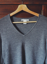 Load image into Gallery viewer, V-Neck Merino Wool Sweater