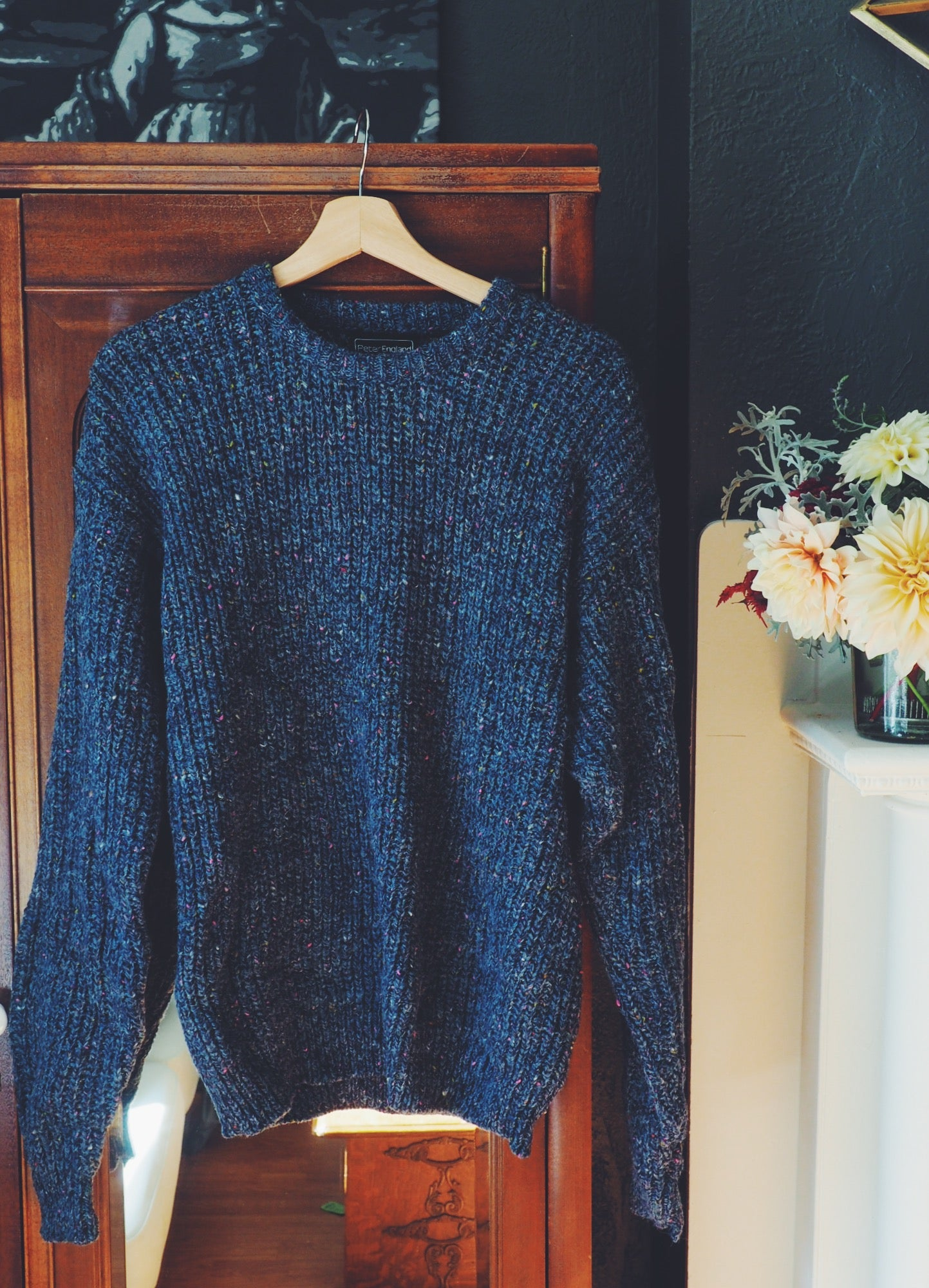 90s Knit Sweater in Blue