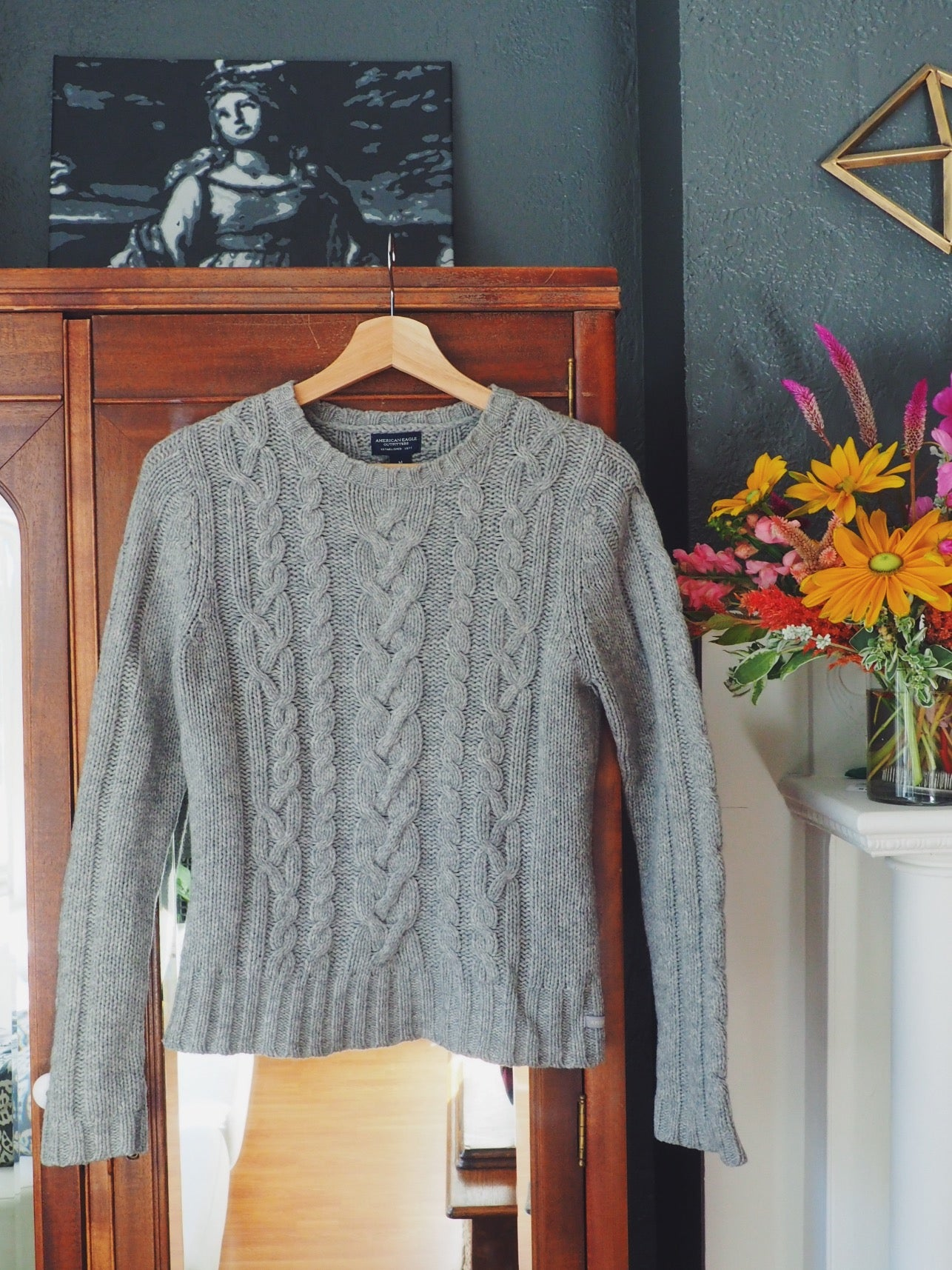 Chunky Cable-Knit Sweater