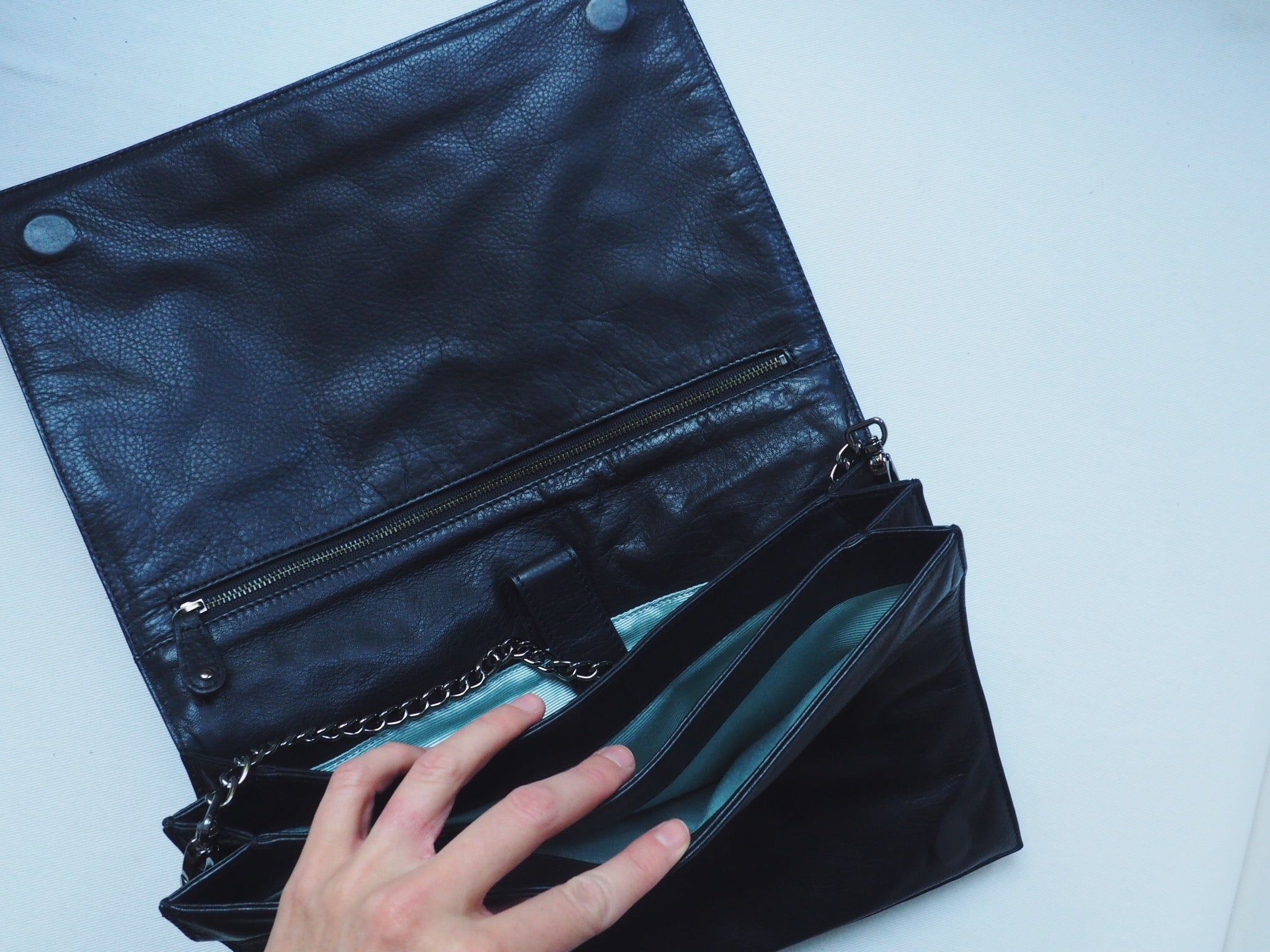 Genuine Leather Over-Sized Clutch