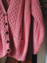 Load image into Gallery viewer, Vintage Pink Cable Knit Cardigan