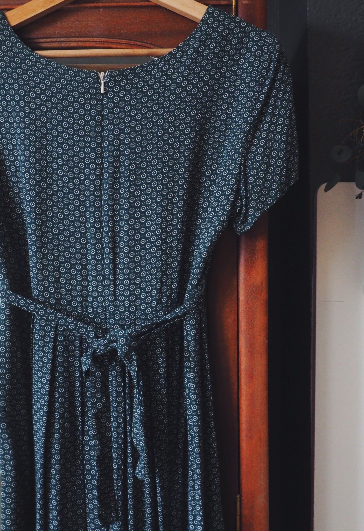 Vintage Green Empire Waist Dress