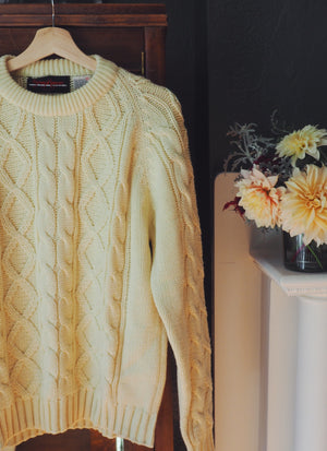 Vintage Chunky Cable Knit Men's Sweater