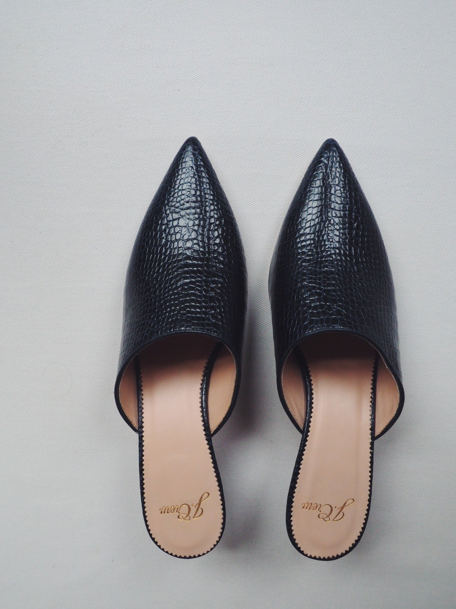 J.Crew Alligator Mules