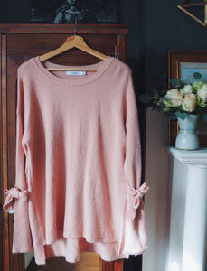 Pretty Pink Bell Sleeve Sweater