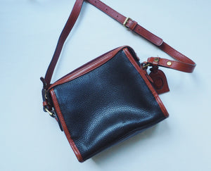 Vintage Leather Black and Brown Purse