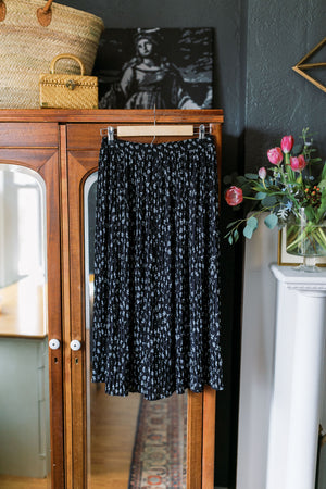 Talbots Made in the USA Black & White Midi Skirt
