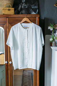Vintage Scallop Pleated Blouse