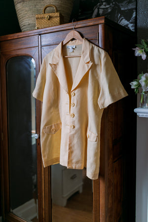 Vintage Made in the USA Short-Sleeve Linen Blazer