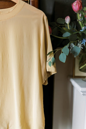 Pure Silk Pale Yellow Blouse