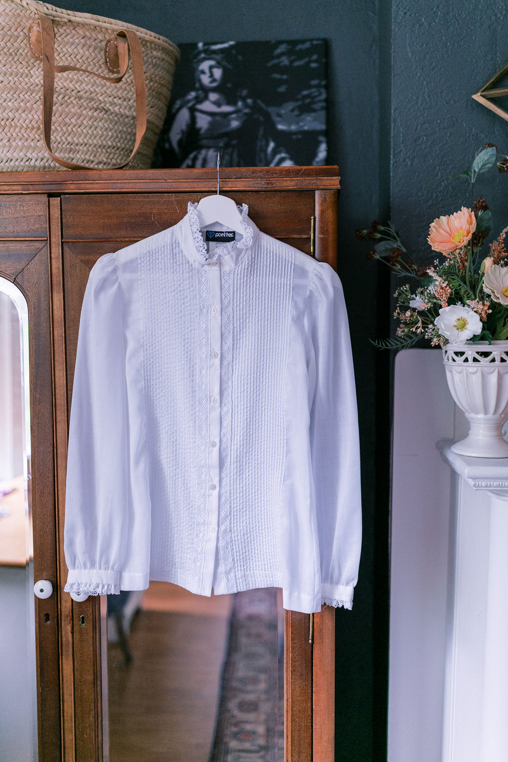 Vintage Edwardian Style Button-Down Blouse
