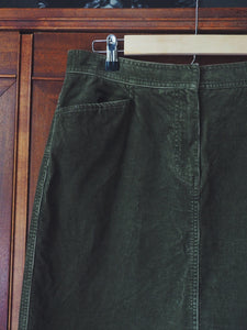 Green Corduroy Skirt