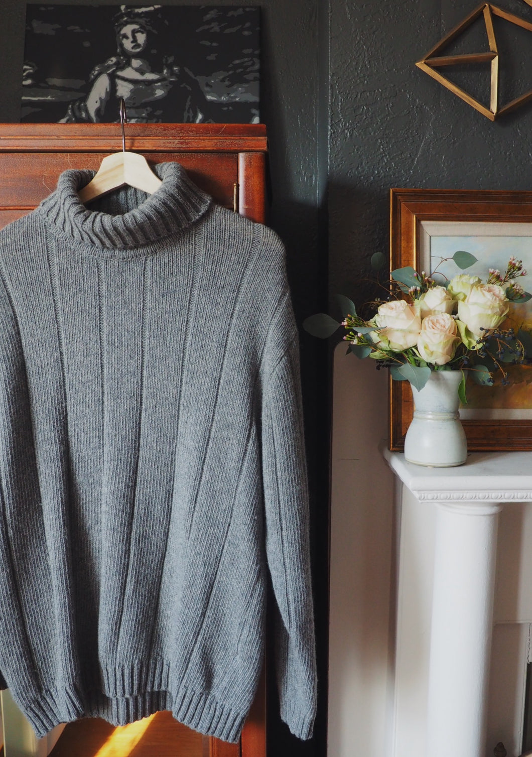 Over Sized Knit Turtleneck Sweater