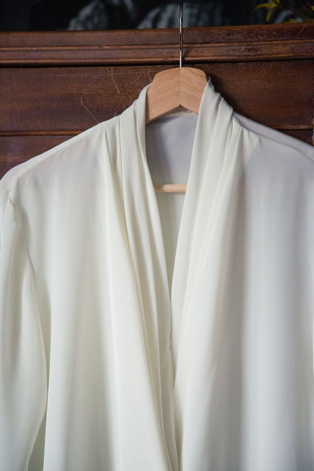 Vintage Cream Draped Blouse