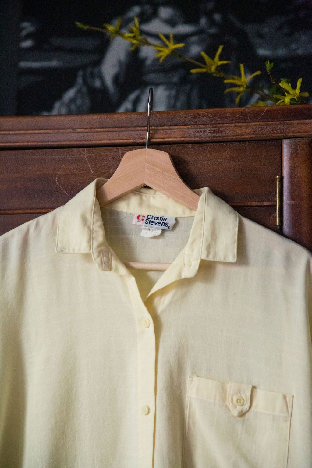 Vintage Soft Yellow Button Down