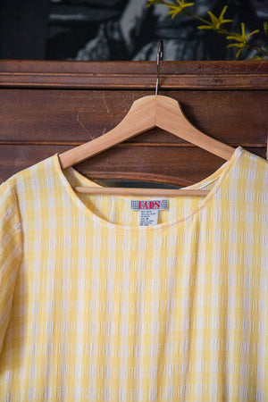 90s Yellow Gingham Baby Doll Dress