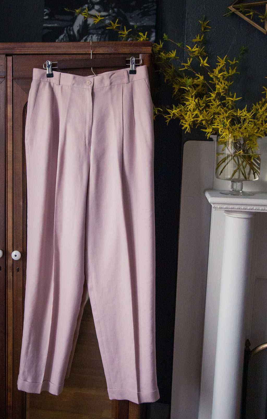 Vintage Wide Leg Pink Trousers