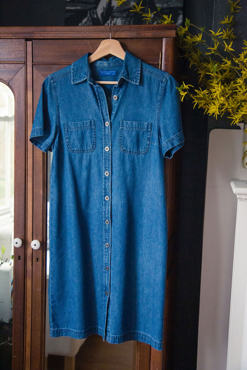 Vintage Petite Denim Shirt Dress