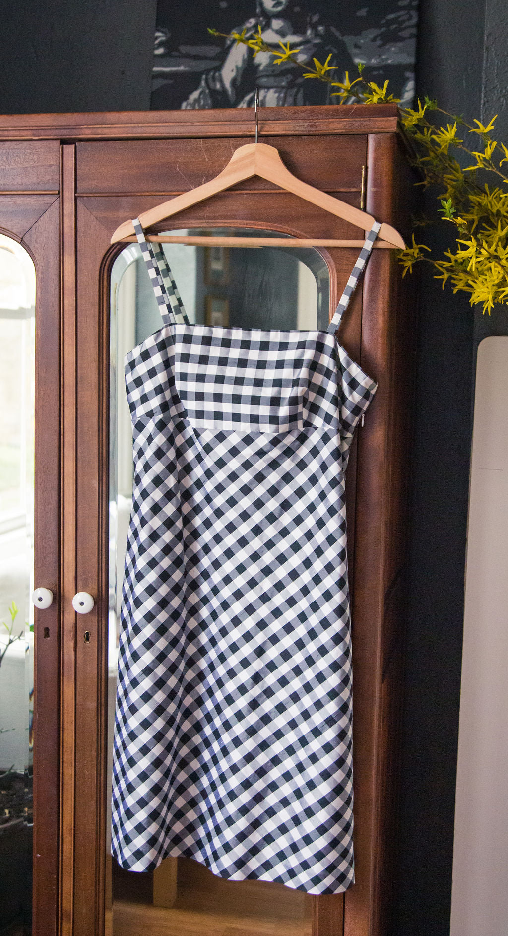 Silk Gingham Sundress