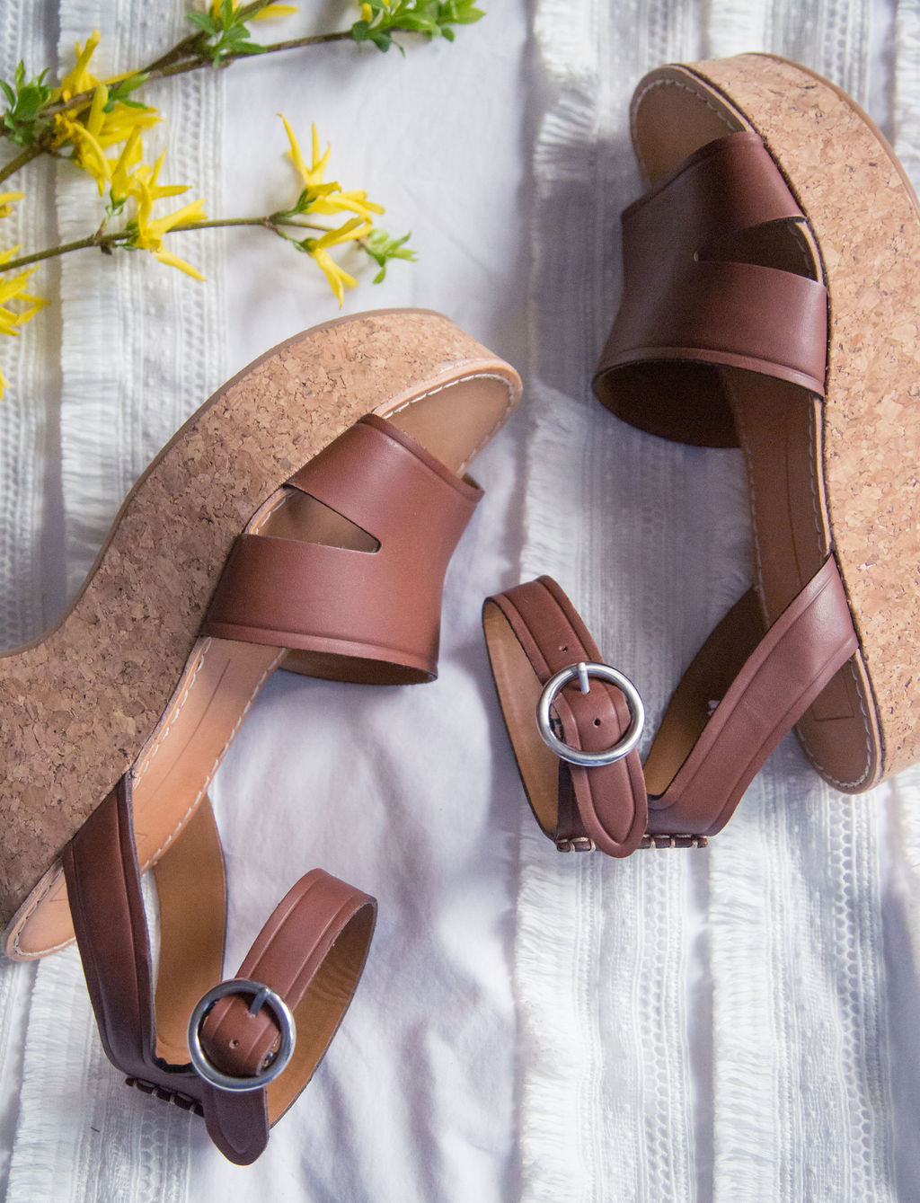 NEW Cork Wedge Platform Sandals