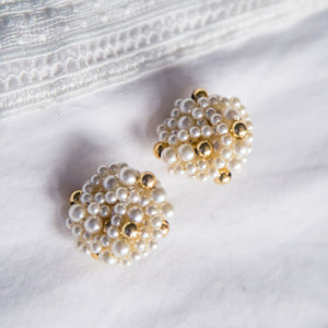 Vintage Statement Pearl Clip Ons