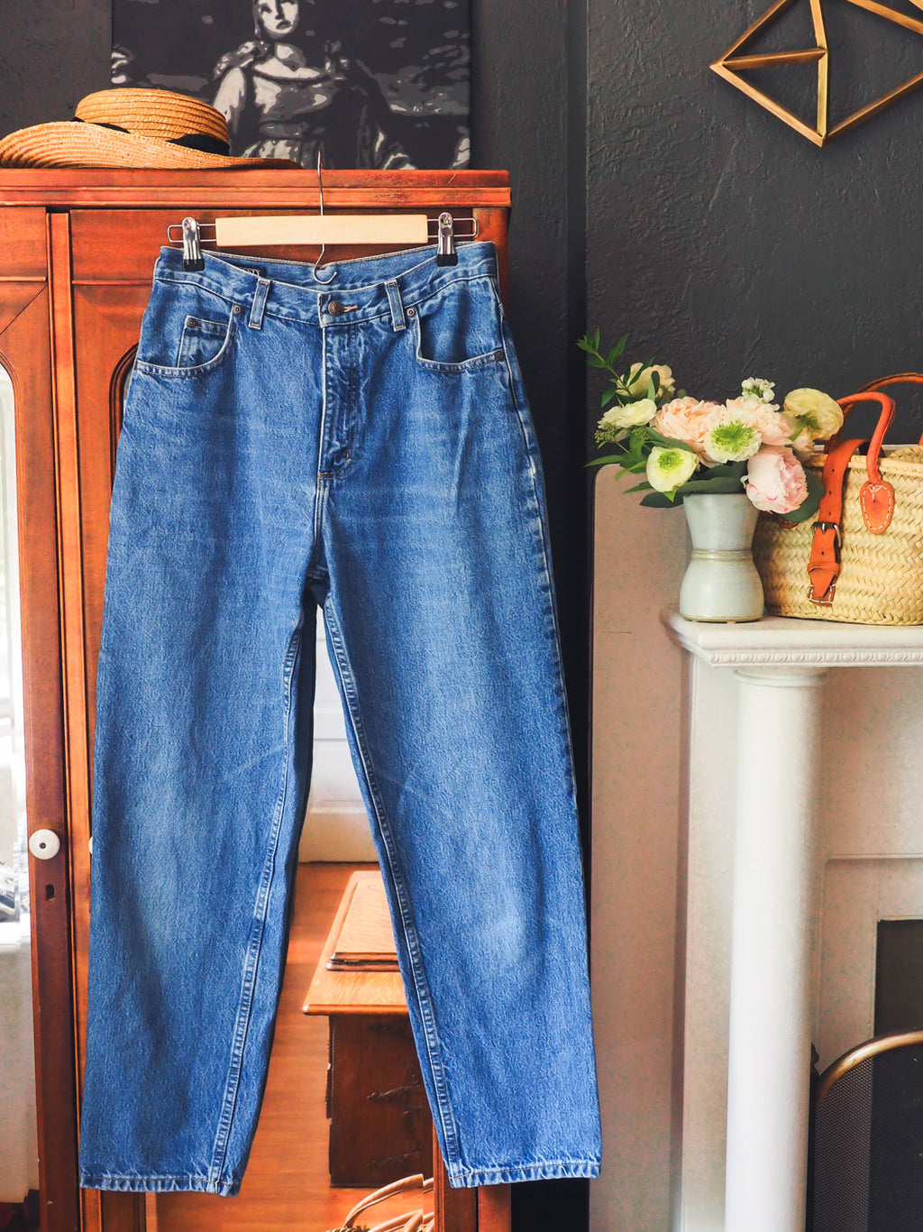 Vintage Stone Wash High-Waist Denim