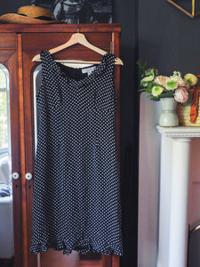 Pure Silk Polka Dot Sun Dress