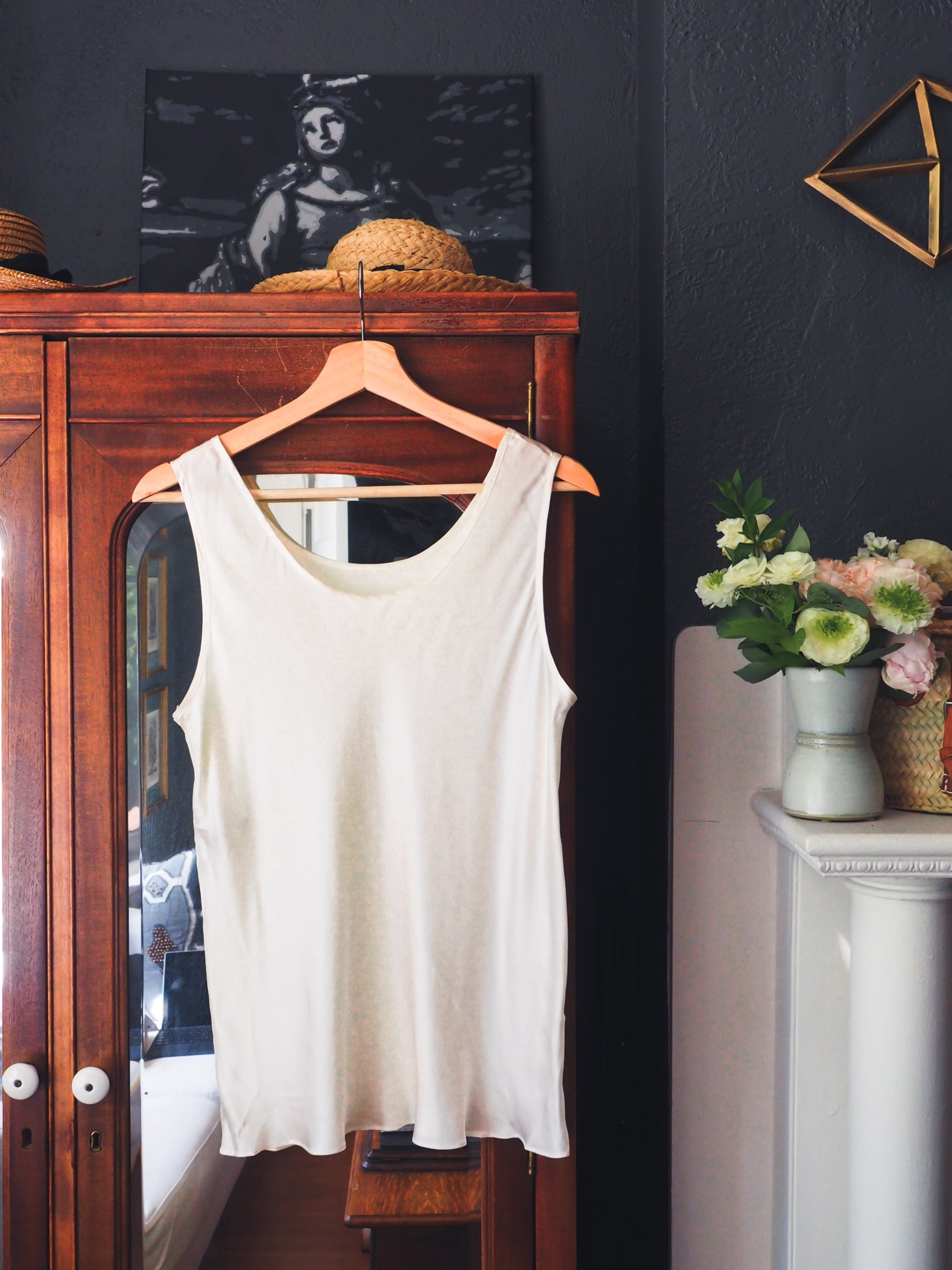 Pure Silk White Tank