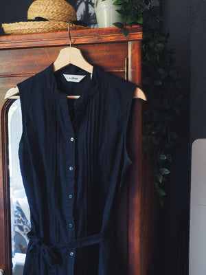 L.L. Bean Black Linen Dress