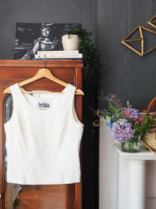 Vintage Cropped Sleeveless Top