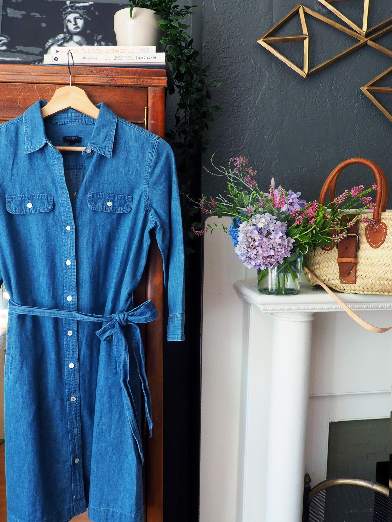 Pure Cotton Denim Petite Shirt Dress