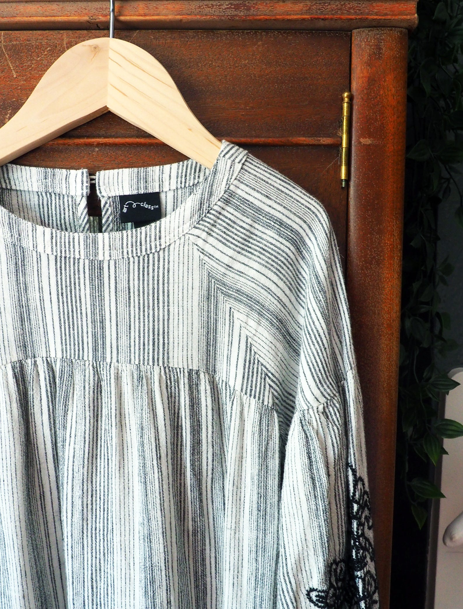 4T French Striped Peasant Dress