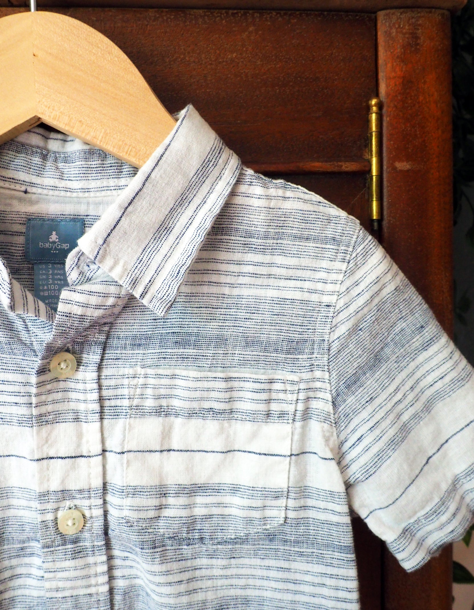 3T GAP Boys Cotton Linen Button Down