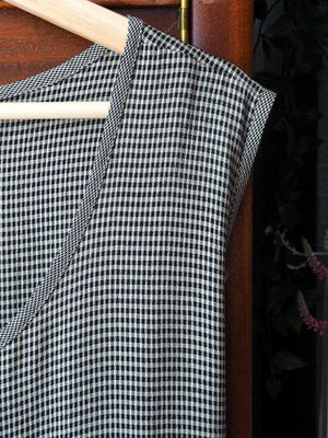 Vintage Checked Sleeveless Jumper