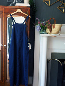 Navy Linen Jumper Maxi Dress