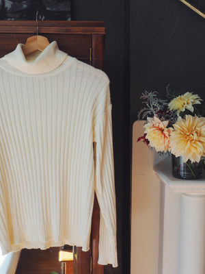 Vintage Cotton Turtleneck Sweater