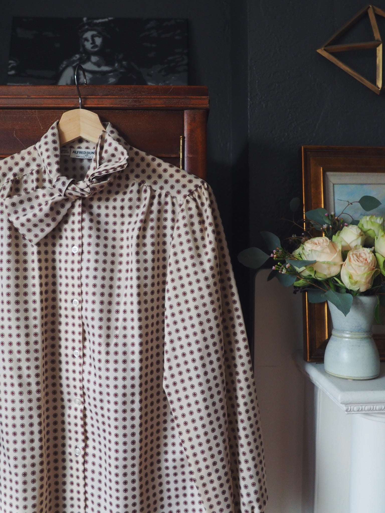 Vintage Secretary Bow Blouse