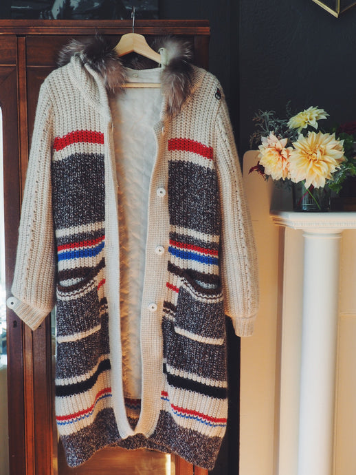 Vintage Wool Sweater Coat