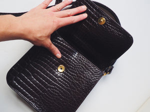 Vintage Faux Alligator Purse