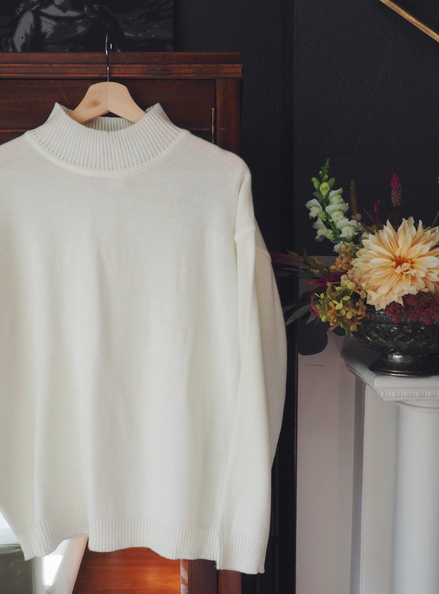 Vintage Off-White Turtleneck Sweater