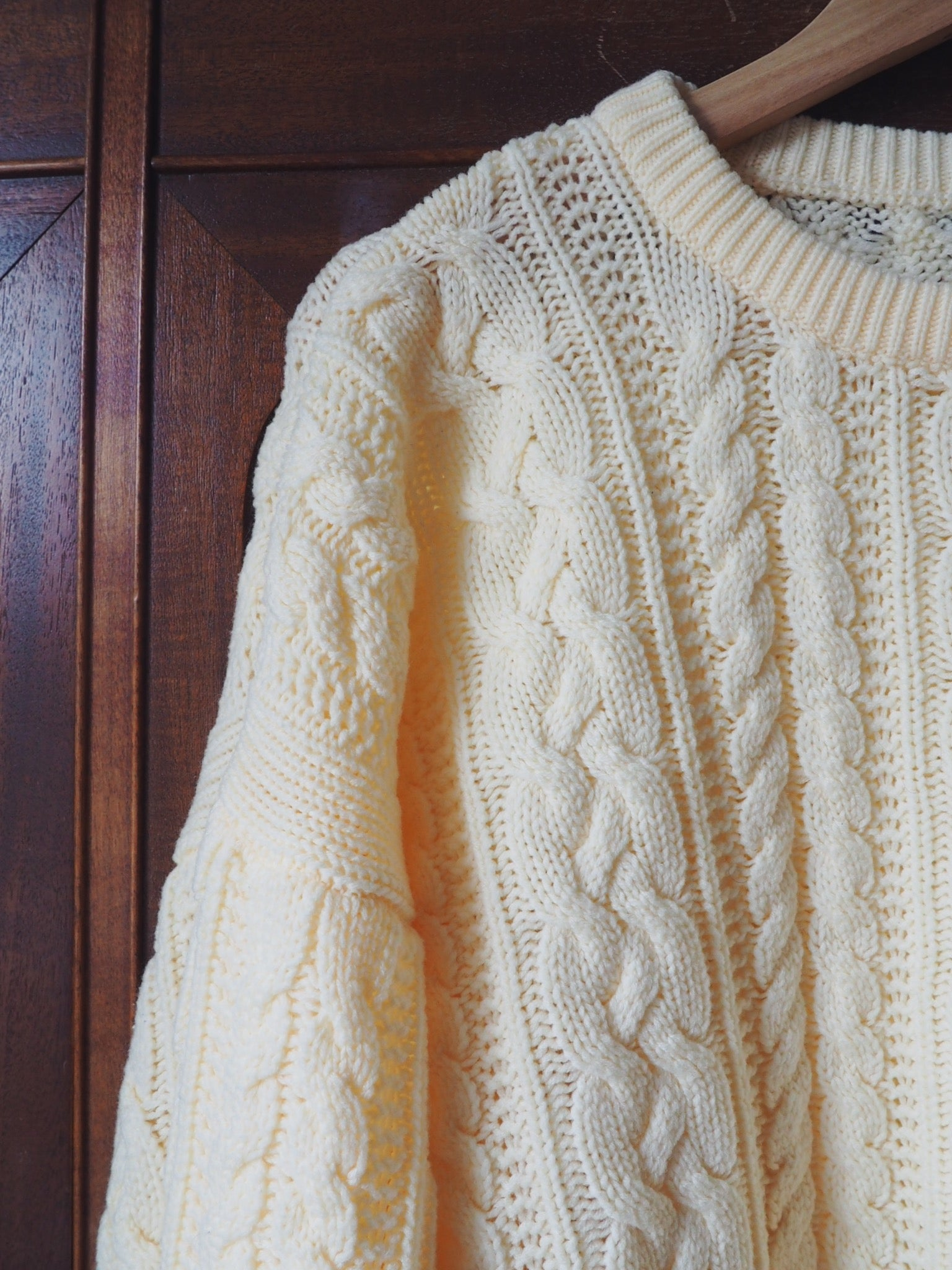Vintage Cable Knit Fisherman Sweater