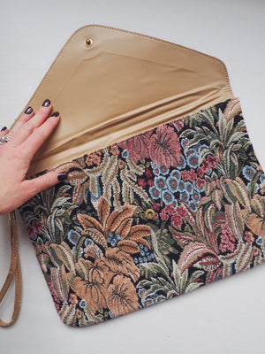 Tapestry Over-Sized Clutch