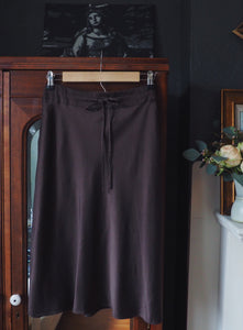 90s Silky Knee-Length Skirt