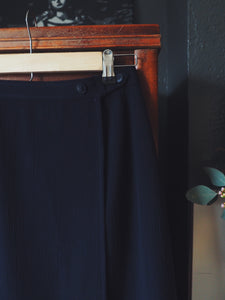 Vintage Navy Wrap Skirt